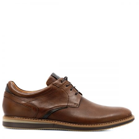 DAMIANI ΑΝΔΡΙΚΑ LACE UP SHOES ΑΝΑΤΟΜΙΚΑ ΜΕ ΔΕΡΜΑ LASER