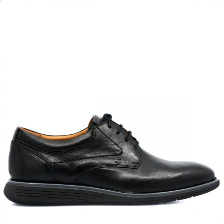 DAMIANI ΑΝΔΡΙΚΑ LACE UP SHOES ΑΝΑΤΟΜΙΚΑ ΜΕ ΔΕΡΜΑ ΛΕΙΟ