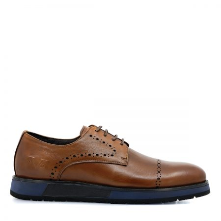 VERSAGE 16V69 ΑΝΔΡΙΚΑ LACE UP SHOES ΑΝΑΤΟΜΙΚΑ ΜΕ ΔΕΡΜΑ ΛΕΙΟ