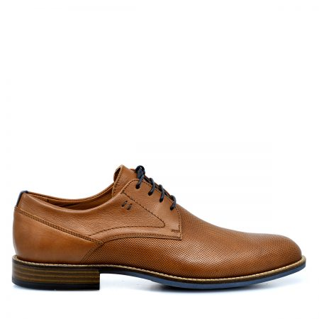 DAMIANI ΑΝΔΡΙΚΑ LACE UP SHOES ΑΝΑΤΟΜΙΚΑ  ΜΕ ΔΕΡΜΑ ΤΑΜΠΑ & LASER ΣΧΕΔΙΟ