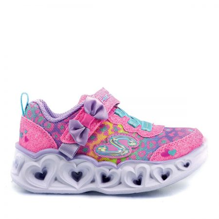 SKECHERS ATHLETIC ΓΙΑ ΚΟΡΙΤΣΙ ΡΟΖ S'LIGHTS HEART LIGHTS UNTAMED HEARTS