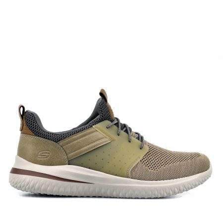 SKECHERS ΑΝΔΡΙΚΑ SNEAKERS ΜΠΕΖ DELSON 30-CICADA TAUPE-MEMORY FOAM