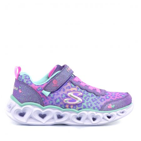 SKECHERS ATHLETIC ΓΙΑ ΚΟΡΙΤΣΙ ΠΟΛΥΧΡΩΜΟ SLIGHTS-HERT LIGHTS-LOVE MATCH